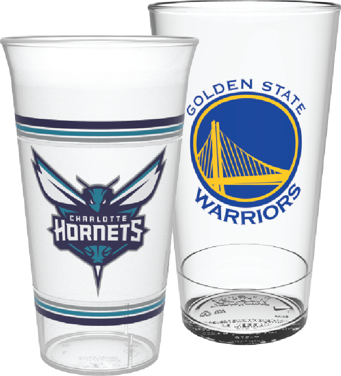 Image of custom soda cups and food containers for sporting teams