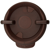 87mm Swivel Lid - Pearl Brown
