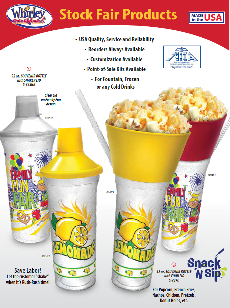 Image of stock fair refillable souvenir drink products