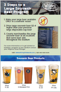 NHL-NBA Large Souvenir Beer Cups