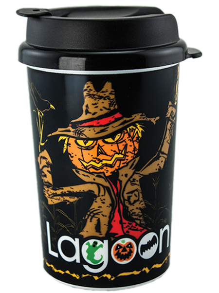 SC-122X 12 ounce dual-wall insulated coffee or hot beverage tumbler with snap-on lid for parks and attractions