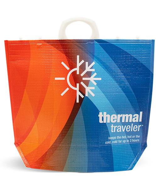 Reusable THERMAL TRAVELER Insulated Carry Bag