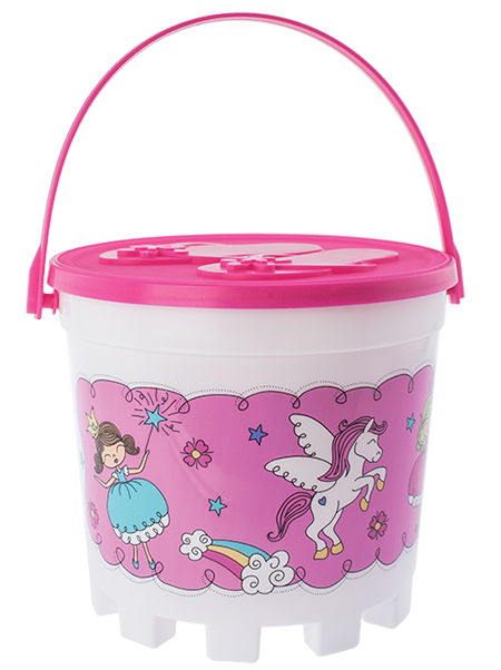 32oz Stackable Bucket with Embossed Lid and Handle