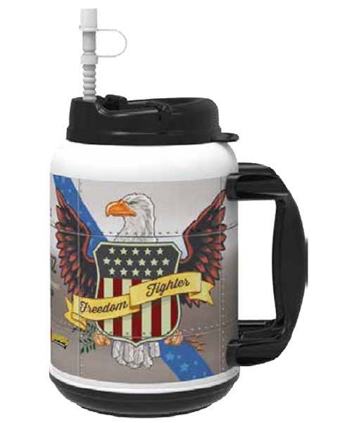 44oz Xtreme Mug with Snap-On Swivel Lid and Straw