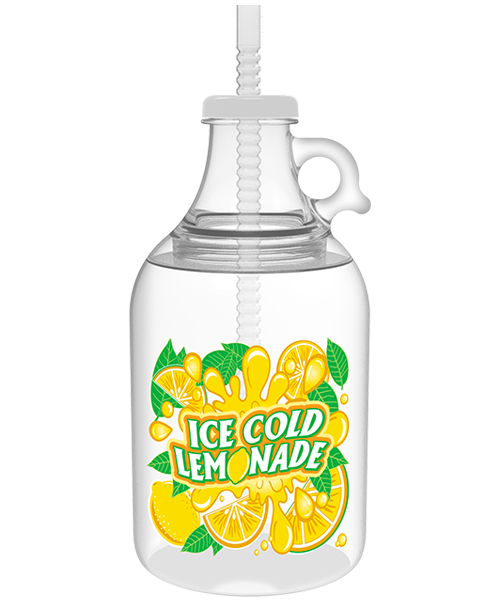 52oz Two-Piece Growler with Threaded Top & Snap-On Cap