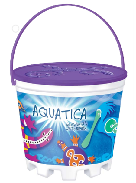 64oz Stackable Bucket with Embossed Lid and Handle