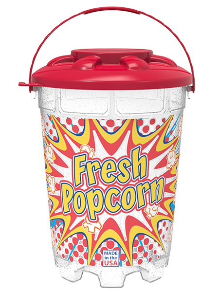 64oz Stackable Bucket with Snap-On Lid and Handle