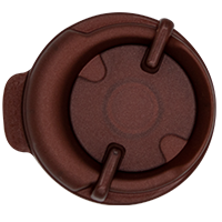 100mm Swivel Lid - Pearl Brown