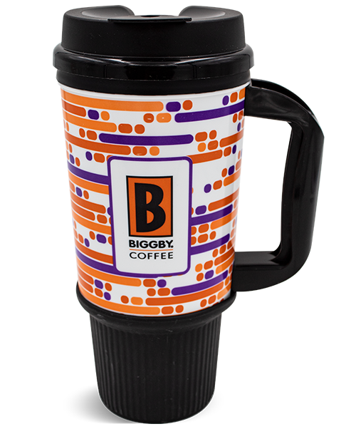 24oz Gripper Mug with Flip-Top Lid and Handle