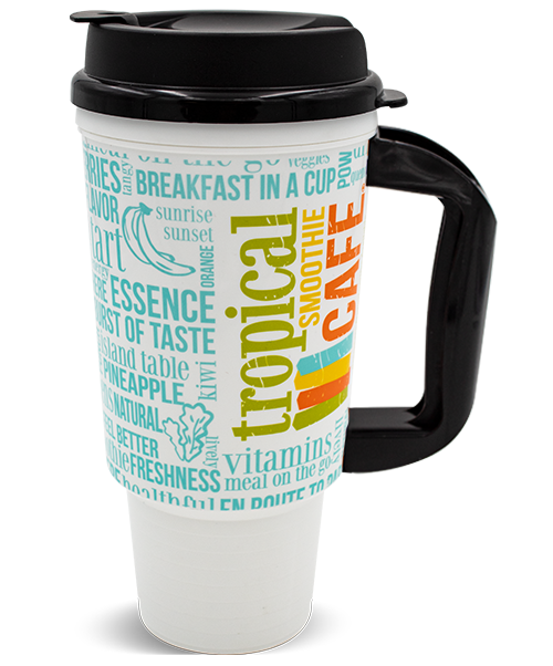 24oz Double Wall Insulated Travel Car Mug with Flip Top Lid