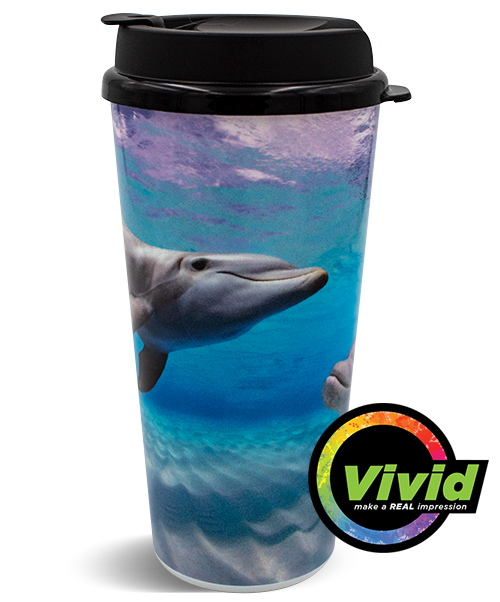 20oz Digital Printed VIVID Collection Double Wall Hot Beverage Tumbler