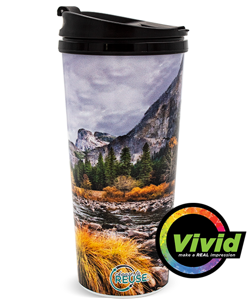 16oz Digital Printed VIVID Collection Double Wall Tumbler with Threaded Lid